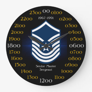 USAF / Senior Master Sergeant 1967-1991 E-8 Large Clock
