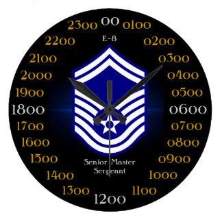 USAF / Senior Master Sergeant E-8 Large Clock