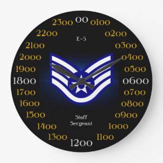 USAF / Staff Sergeant E-5 Large Clock