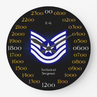 USAF / Technical Sergeant E-6 Large Clock