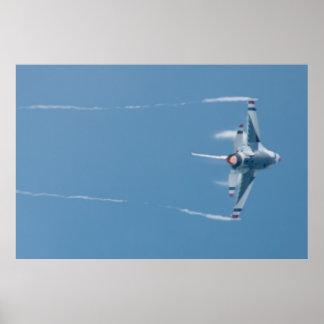 USAF Thunderbird Lead Solo 5 360 Start Vapor Poster