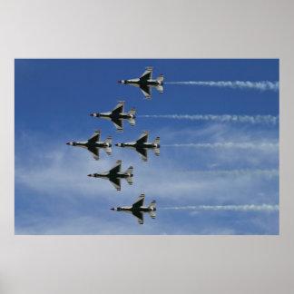 USAF Thunderbirds Delta Bottom Poster