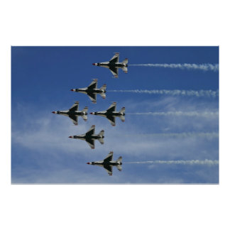 USAF Thunderbirds Delta Bottom Up Pass Posters