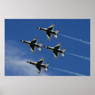 USAF Thunderbirds Diamond Belly Poster