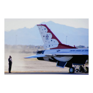 USAF Thunderbirds Engine Start Poster