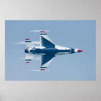 USAF Thunderbirds Lead Solo 5 360 Finish Vapor Poster