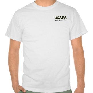 USAFA. It's just ok. - Go Army - white tee