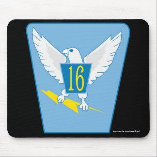 """USAFA Squadon 16"""" cojín de ratón de los halcones Alfombrillas De Ratón"""