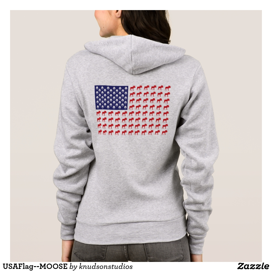 USAFlag--MOOSE Hoodie - Creative Long-Sleeve Fashion Shirt Designs