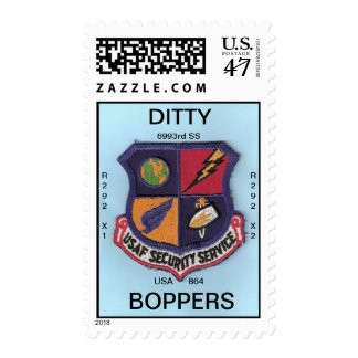USAFSS PATCH, DITTY, BOPPERS, R292X1, R292X2, U... STAMP