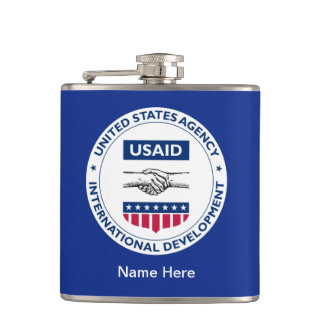 USAID Shield Hip Flask