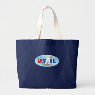 USAIL ocean gliders Large Tote Bag