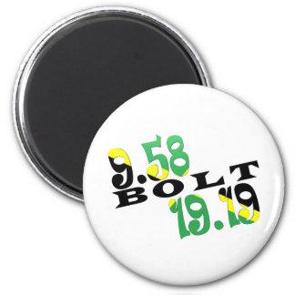 Usain Bolt Berlin 2 WR Jamaican Flag 2 Inch Round Magnet