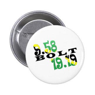 Usain Bolt Berlin 2 WR Jamaican Flag Pinback Button