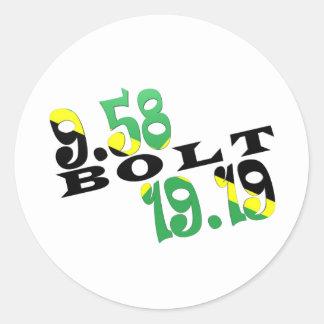 Usain Bolt Berlin 2 WR Jamaican Flag Classic Round Sticker