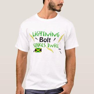 usain lightning bolt strikes twice - T-Shirt