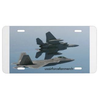 Usairforcefanmerch F-15 y F-22 Placa De Matrícula