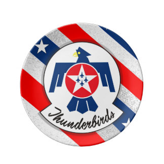 """USAIRFORCEFANMERCH"", Thunderbirds Porcelain Plate"