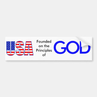USALetters-lg, Founded on the Principles of, G,... Car Bumper Sticker