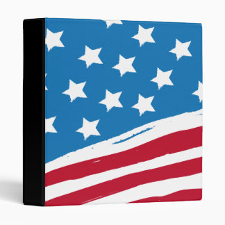 USAmerica Flag 3 Ring Binder