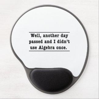 Usando álgebra alfombrillas de raton con gel