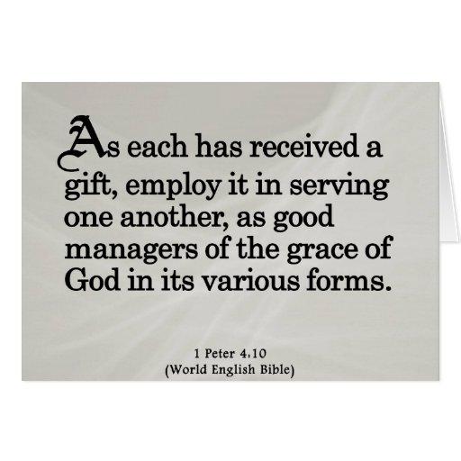 Usando los regalos a partir del 4:10 de Peter de d Tarjetas