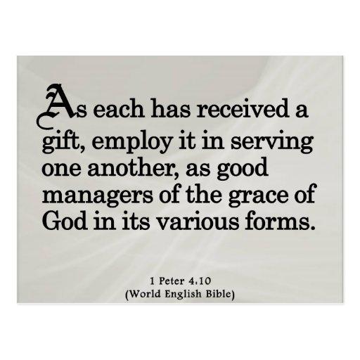 Usando los regalos a partir del 4:10 de Peter de Postal