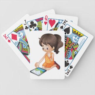 usando una PC de la tableta Baraja Cartas De Poker