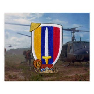 USARV Army Support Command Vietnam Nam War Poster
