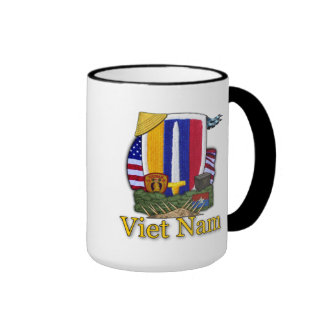 usarv army vietnam war patch veterans vets mug