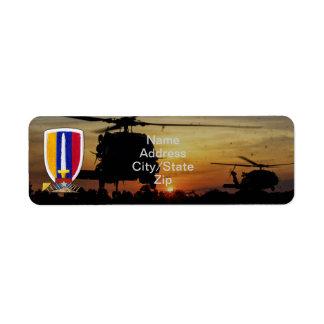 usarv vietnam nam war veterans vets patch return address label