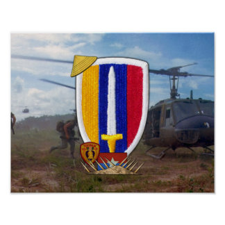 USARV Vietnam Nam War Vets Patch Poster