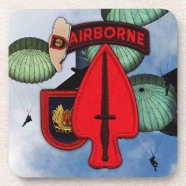 USASOC SOC Special Ops Fort Bragg Veterans Vets Beverage Coaster