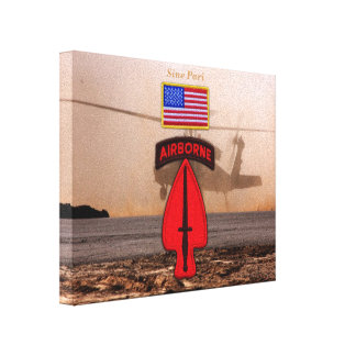 USASOC Special Ops veterans vets patch Canvas Print