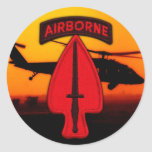 USASOC Special ops veterans vets patch Classic Round Sticker