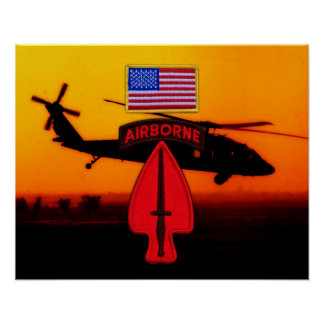 USASOC Special Ops Veterans Vets Patch Poster