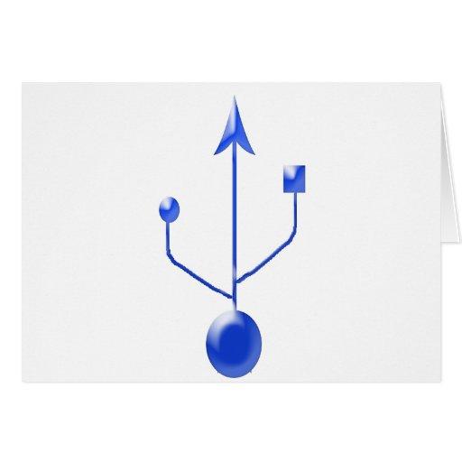 USB-b Tarjeta De Felicitación