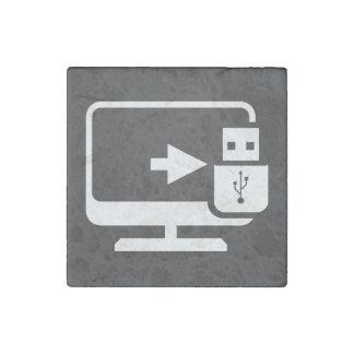Usb Connectors Minimal Stone Magnet