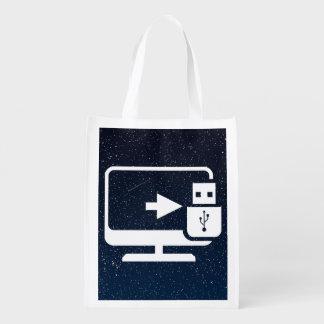 Usb Connectors Minimal Grocery Bag