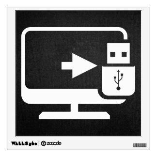 Usb Connectors Minimal Wall Sticker