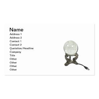 USB Crystal Ball Business Card Template