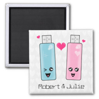 USB Flash Drive Love 2 Inch Square Magnet