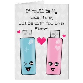 USB Flash Drive Love Greeting Card