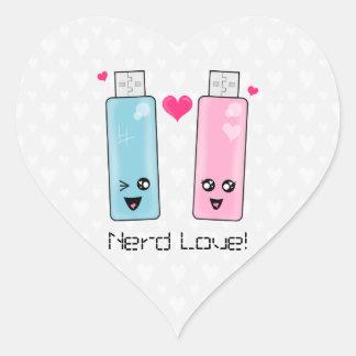 USB Flash Drive Love Heart Sticker