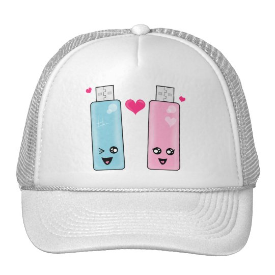 USB Flash Drive Love Trucker Hat