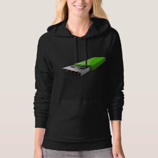 USB Flash Drive Womens Hoodie