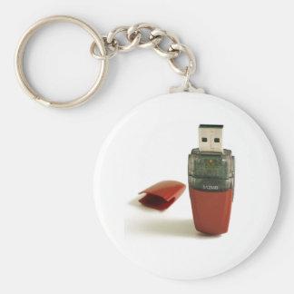 USB Flash pen Basic Round Button Keychain