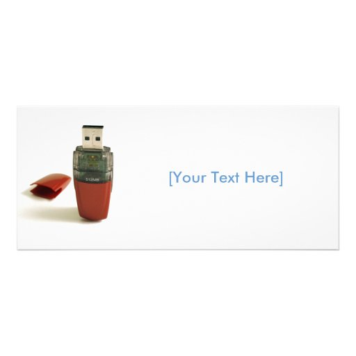 USB Flash pen Rack Card Template