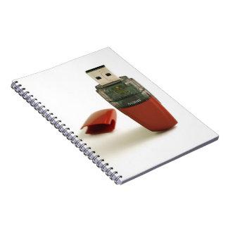 USB Flash pen Spiral Notebook