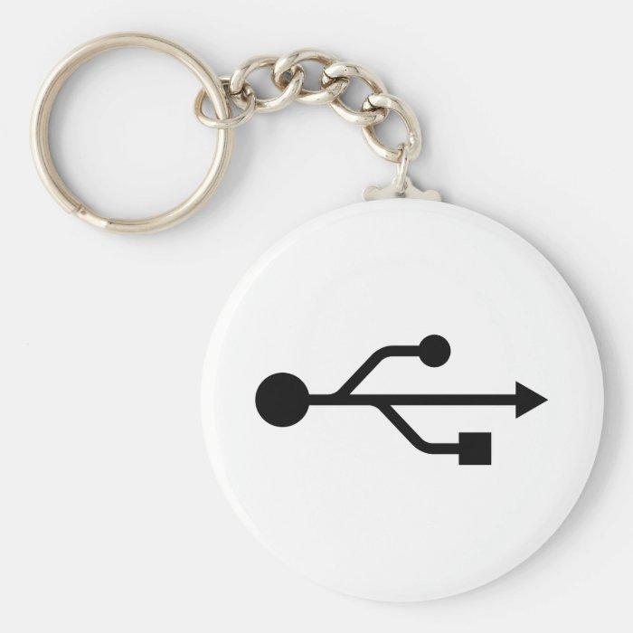 USB Logo Keychain